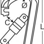 Edelstahl Karabinerhaken mit Springverschluss
